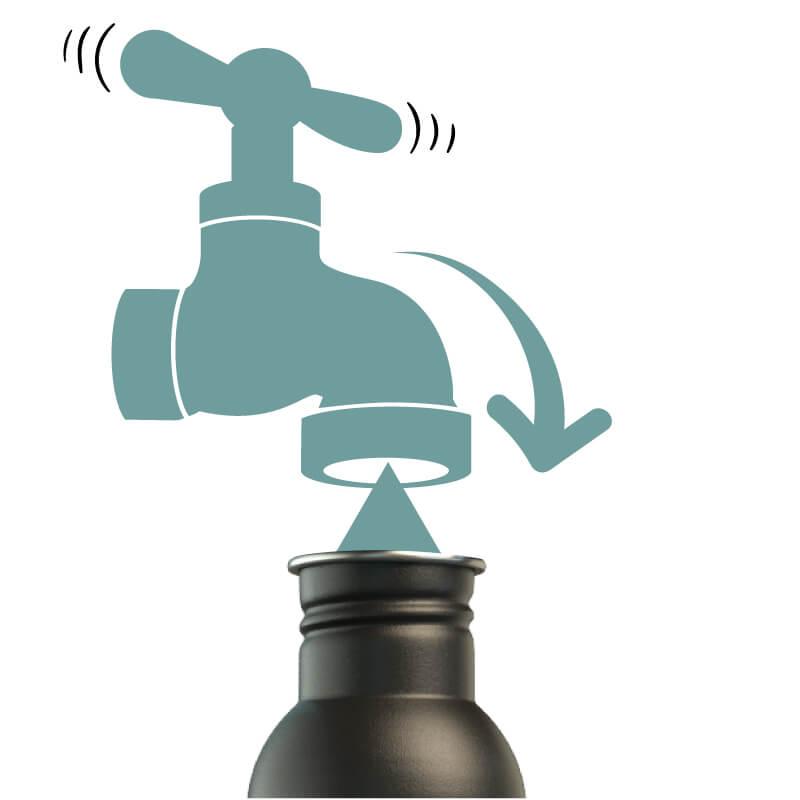 Die citybottle führt dich zu den nächsten Auffüllstationen für Trinkwasser